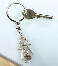 Gilde Schlüsselanhänger Schutzengel Herz Engel Metall silber 50992 Geschenk Matt