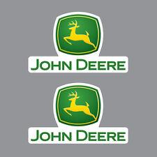 SKU1100 Two (2) x John Deere Tractor Stickers 120x200mm