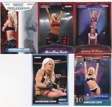 WWE TNA BORN IN TORONTO CANADA 5 SEXY ANGELINA LOVE WRESTLING CARDS SEE SCAN
