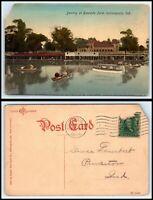 INDIANA Postcard - Indianapolis, Boating At Riverside Park A3