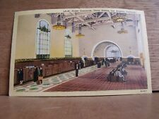 1930-40s America Postcard Ticket Concourse Union Station Los Angeles California