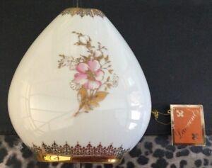 Vintage Laurent's Pear Shaped White Porcelain Vase With 24k Gold Gilding. Spain