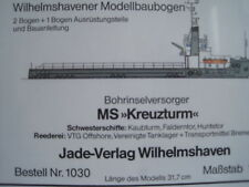 MS Kreuzturm Bohrinselversorger Schiff Wilhelmshavener Modellbaubogen