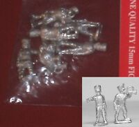 Essex PPN5 15mm Napoleonic Prussian Command Pack (Fusiliers or Jager) (6) NIB