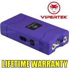 VIPERTEK PURPLE VTS-880 450 MV Mini Rechargeable LED Police Stun Gun Taser Case