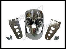 Chopper Bobberr Skull Headlight With Light In Eyes BSA Norton Triumph