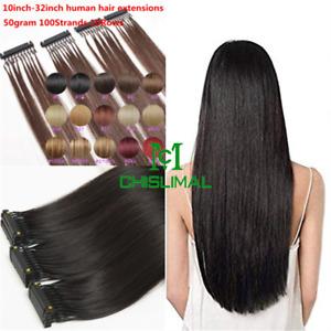 black brown blonde 6D Micro Hair Extensions Remy Hair 50gram 100Strands 10Rows