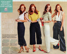 WIDE LEG TROUSERS Long or Cropped Easy Prima Sewing Pattern 10 12 14 16 18 20