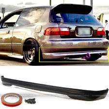 For 92-95 Civic EG6 3DR Hatchback Polyurethane T-R Style Rear Bumper Chin Lip