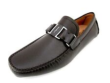 Salvatore Ferragamo Sardegna mens brown loafers shoes 12 D(M) US made in Italy