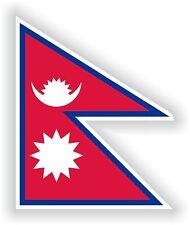 """Nepal flag sticker 3.2x4""""Bumper Decal Car Fridge Tablet Door Bike Book Truck"""