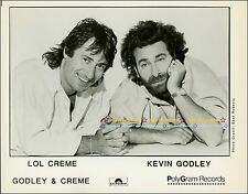 Lol Creme & Kevin Godley - 1980s  PolyGram Records 8x10 Publicity Photo!