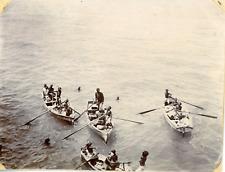 Yémen, Aden, Vue des barques, ca.1900, vintage silver print Vintage silver print