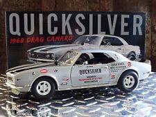 GMP ACME Quicksilver 1968 Chevy Drag Camaro Bill Drevo 1:18 Scale Diecast Car