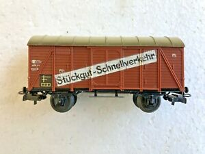Märklin H0 4507 Gedeckter Güterwagen  2A, braun Stückgut-Schnellverkehr s.Fotos,