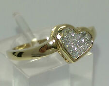 Princess 9 Carat Cluster Yellow Gold Fine Diamond Rings