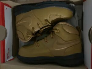 Nike Manoa Leather Leder TD Neu Gr:26 Winter Stiefel Beige Wheat Braun BQ5374