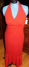 Jonathan Martin Red Halter Long Dress Size 10 Brand New