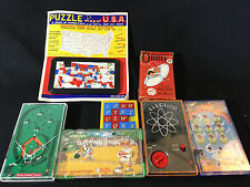 1970 1980's Vtg Marble Pocket Games Lot Puzzle Cards Hand Held Road Trip Games