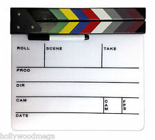 White Director's Clapboard with Color Sticks / Clapper / Slate - 2585