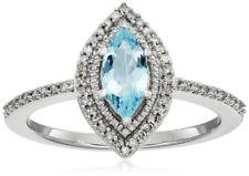 Anelli con diamanti j in oro bianco a 10 carati