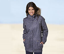 BNWT Ladies Womens Trespass Begin Winter Faux Fur Trim Snow Ski Jacket Coat XS 8
