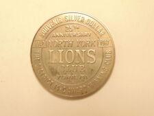 1967 Lions Club souvenir silver dollar: North York and Colonial Park, Penna.