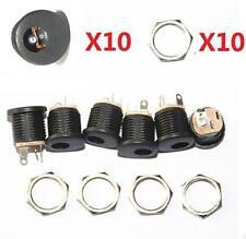 10pcs 5.5x2.1mm DC Power Supply Jack Socket Female Panel Mount Connector