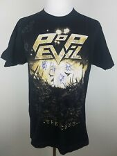 Pop Evil Rock Band T Shirt Black Size L Autographed Signed Trenches Signatures