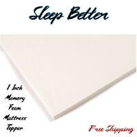 1 Memory Foam Mattress Topper Matress Pad King Twin Queen Full Orthopedic Top
