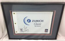 Nick Watney Autographed 27.5x21.5 Framed Signed Flag Zurich Classic PGA Tour