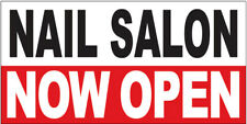 20x48 Inch Nail Salon Now Open Vinyl Banner Sign Wrb