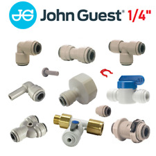 """John Guest 1/4"""" Water Filter Fittings, Ro unit, Reverse Osmosis, Pipe, Tube"""