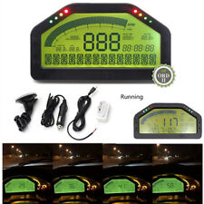 Blueteeth OBD2 Dash Mount Race Gauge LCD Display Rally Meter RPM Speed Fuel Lvl.
