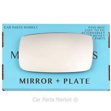 For Volvo 740 1984-1993 Left Passenger side Flat wing mirror glass +plate