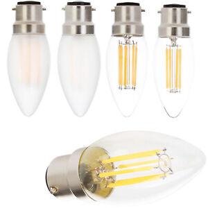 Dimmable C35 B22 LED COB Filament Candle Light Retro Edison Bulb 2W 4W 6W Lamp