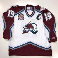 JOE SAKIC 1996 STANLEY CUP CCM NHL WHITE COLORADO AVALANCHE JERSEY X-LARGE