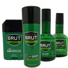 Brut Set For Men. Full Manly Protection, Solid, Spray Deodorant,Cologne & Splash