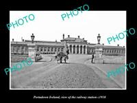OLD LARGE HISTORIC PHOTO OF PORTADOWN IRELAND, VIEW OF THE RAILWAY STATION c1910