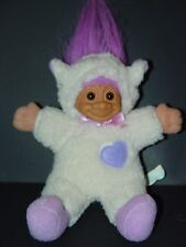 "Troll Doll 6"" Russ Easter Sheep Lamb Plush Soft Body Purple Hair"