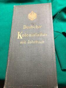 Buch: Deutscher Kolonialatlas mit Jahrbuch von 1909.