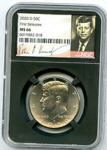 2020 D KENNEDY NGC MS66 HALF DOLLAR RETRO SIGNATURE LABEL FIRST RELEASES