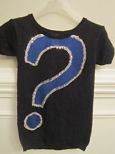 NEW Justice Brand Sequin Sweater Sz 8 Sparkly Question Mark Sweater NWT $42