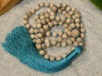 Tulsi Mala Necklace • Holy Basil Mala Necklace • 7mm • Tulsi Prayer Beads • 2728