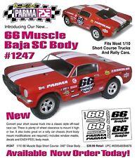 Parma 66 MUSCLE FORD MUSTANG Clear UNPAINTED Body SHORT COURSE SLASH PAR1247