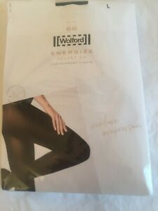 Wolford Energize Velvet 66 leg support in Large in Black UK 16-18 perfect//