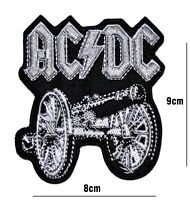 Ac Dc MUSIC BAND LARGE PATCH EMBROIDERED IRON OR SEW ON BADGE LOGO