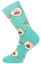 40s and Shorties Explicit  Ribbed Crew Socks Mens Teal