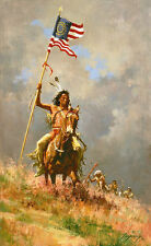 Howard Terpning CHANGE OF COMMAND Giclee Cnvs Native American Civil War #111/150