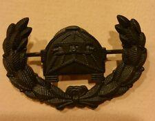WW I U. S.ARMY TANK SERVICE OFFICER'S 1ST TYPE HAT DEVICE INSIGNIA
